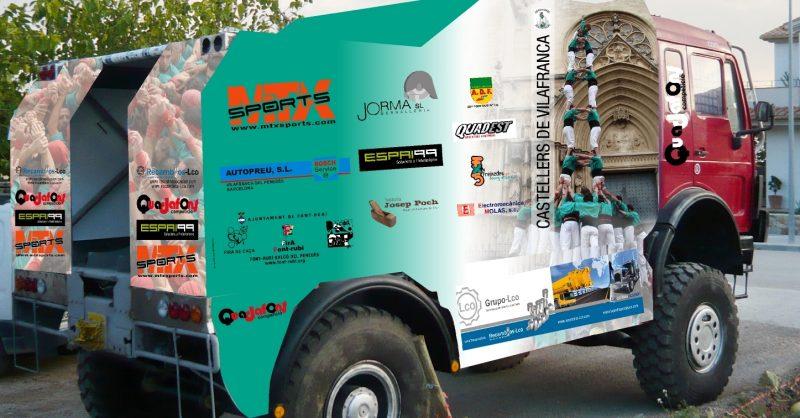 Camió DAKAR 2011 castellers de vilafranca