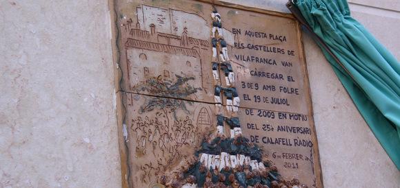 placa 3d9f calafell castellers de vilafranca