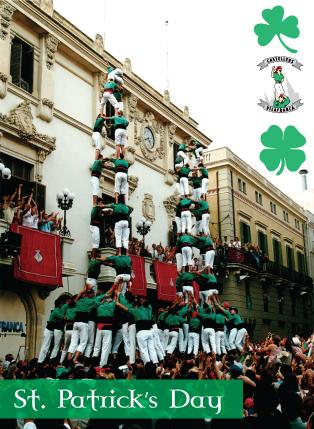 st patrick's day castellers de vilafranca