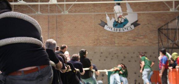 castellers de vilafranca torneig estirar la corda