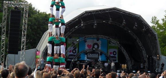 castellers de vilafranca a holanda festival mundial tilburg