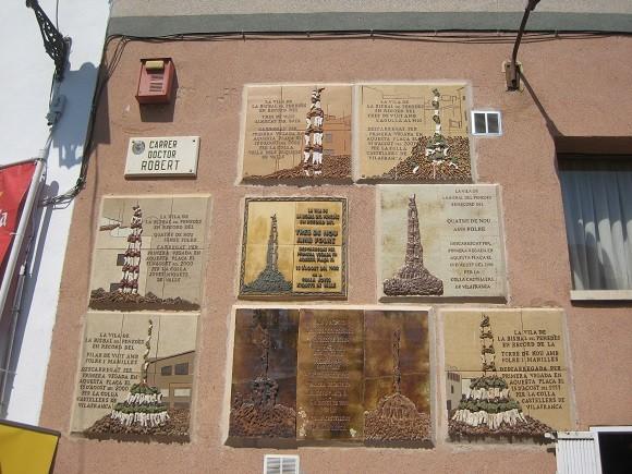 Plaques commemoratives de fites castelleres La Bisbal del Penedès