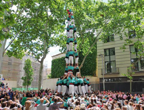 Els Castellers de Vilafranca porten el castell de nou a Sants