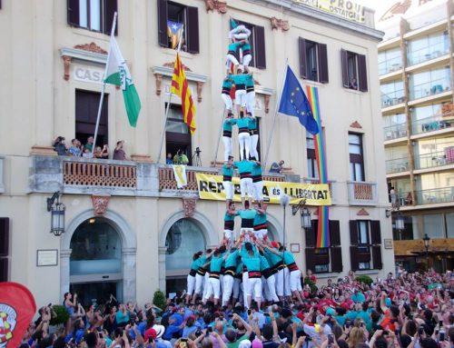 Els Castellers de Vilafranca converteixen Lloret de Mar en plaça de 9
