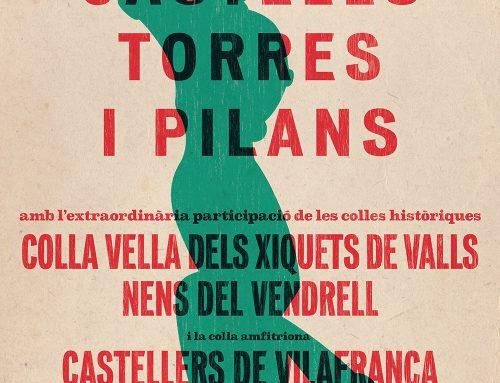 Els Castellers de Vilafranca celebren el seu setantè aniversari amb una diada històrica a la plaça més castellera