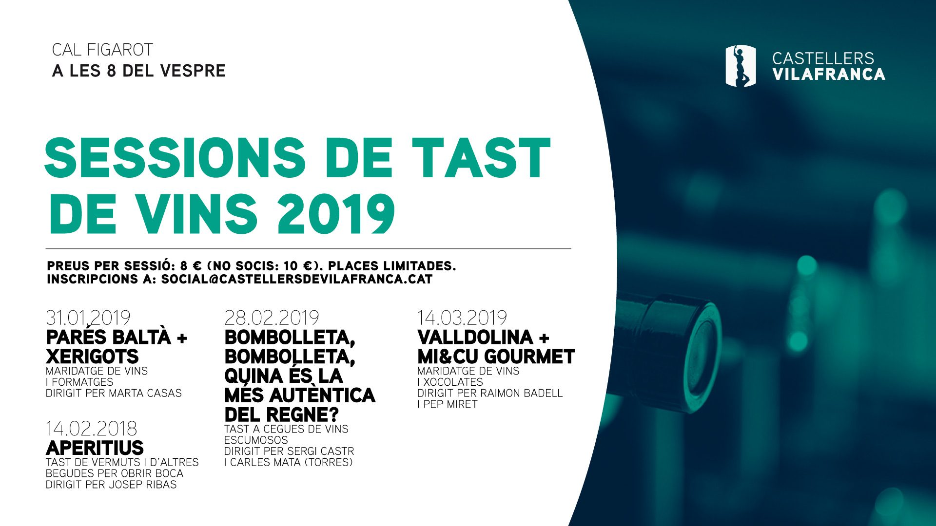 Sessions de tast de vins 2019